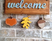 Fall Ornaments for Welcome Sign
