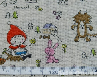 "New style Little red riding hood fabric - little red - 1 yard - cotton linen, wolf, Check out with code ""5YEAR"" to save 20% off"