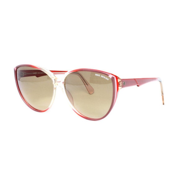 Butterfly Red / Purple Vintage Sunglasses - BC Lucero - butterfly sun glasses - 1980's NOS
