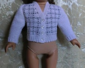 195 Classic Cardigan - Crochet Pattern  For American Girl Dolls