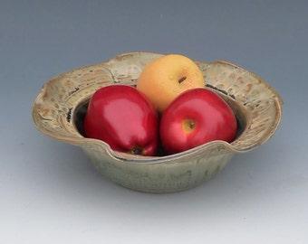 Pretty Green Pottery Serving Bowl
