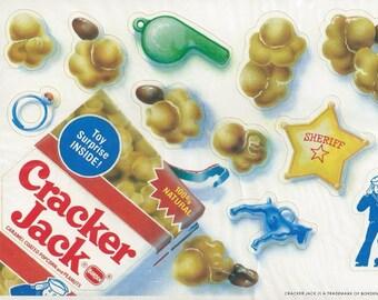 """Vintage 80's Hallmark Cracker Jack """"Send a Sticker"""" Postcard New in Package"""
