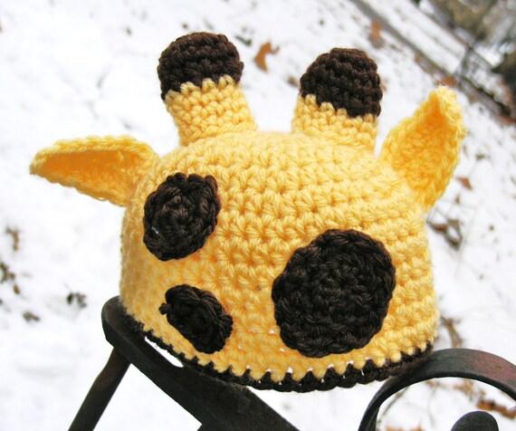 Crochet Pattern Giraffe Hat : Items similar to Crochet Giraffe Hat - Newborn Giraffe Hat ...