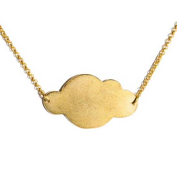 LES FORMES - Cloud gold coated brass necklace (FC01)