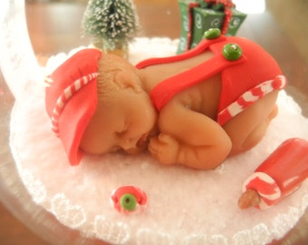Baby's First Christmas Ornament -Dreamer Baby Boy