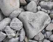 Heart of Stone 11X14 Photograph with Bible Verse Proverbs 4:23 Guard Your Heart