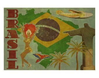 BRAZIL 2FS- Handmade Leather Photo Album - Travel Art