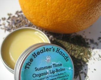 Summer Time Organic Lip Balm ~ Screw Top Tin ~ .5 oz