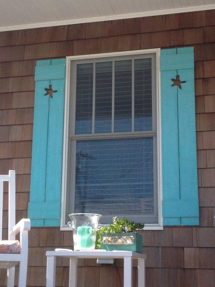 Shutter exterior interior one cedar wood beach by for Beachy exterior shutters