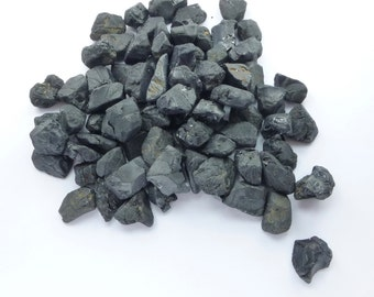 Natural Black ONYX Grab Bag BLAcK FRiDAY CyBer MoNday FaCeT QuAlItY Beautiful JeT BlacK Rough Super Color 20 pc 15 - 18 mm 50 grams ox127-50