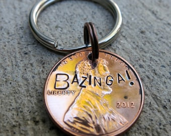 Bazinga Penny - Big Bang Theory - (choice of keychain, necklace or cell charm)