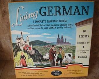 Vintage 1950's Learn German LP's