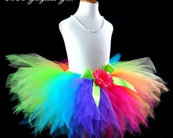 Adult Women's Rainbow Tutu...Fun Run Tutus...Rainbow Clown Tutu...Rainbow Racing Tutu...Rainbow Fairy Tutu . . . PIXIE CANDY RAINBOW