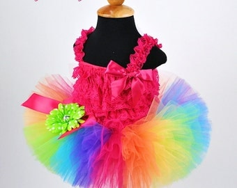 Teen Adult Women's Rainbow Tutu...Clown Halloween Tutu, Color Fun Run Tutu . . . CANDY RAINBOW II