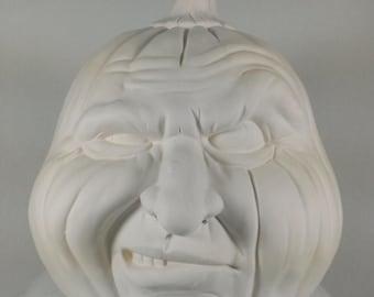 Ceramic Pumpkin face - Ready to Paint - Holloween Decoration