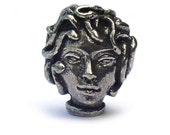 Green Girl Studios Medusa Head Pewter Beads