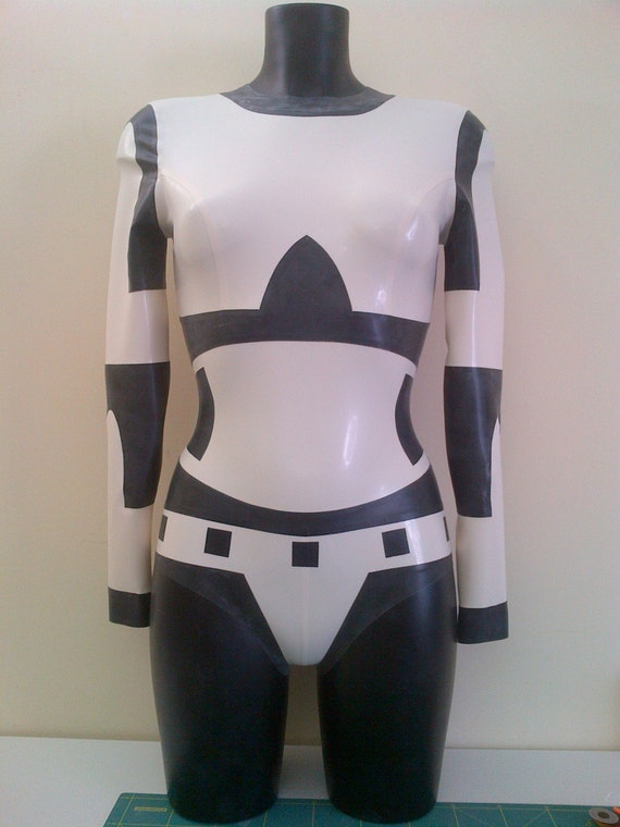 Star Wars Stormtrooper Inspired Rubber Latex Bodysuit Romper