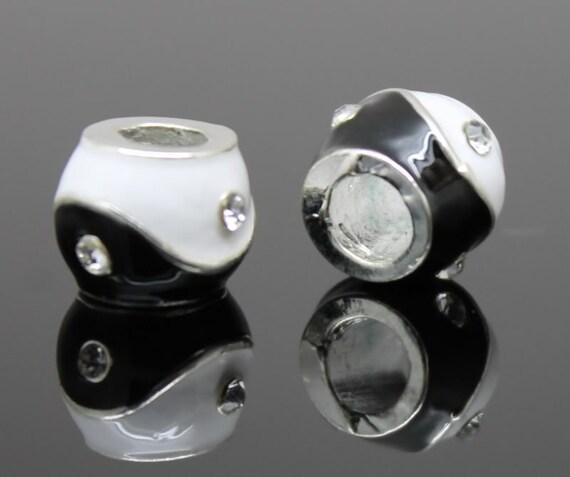 yin yang dreadlock bead