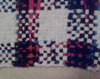 cotton loop rag rug block weave