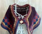 Bohemian Style Wool Tweed Shawlet