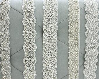 DEPOSIT only for Custom Couture Crystal Rhinestone Sash, bridal beaded sash, wedding sash, bridal belt, wedding belt, crystal bridal sash