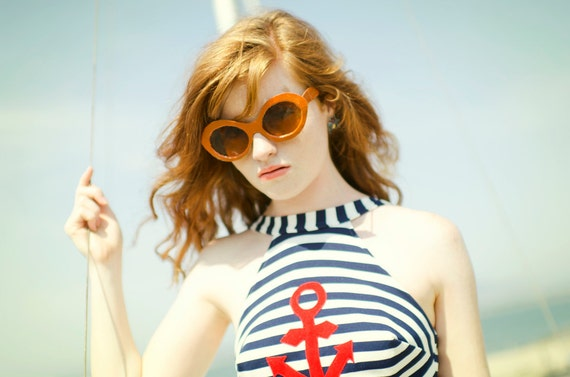 Vintage 60s Sailor Swimsuit