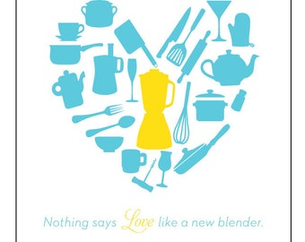 Nothing Says Love Like a New Blender - Wedding Shower Greeting Card