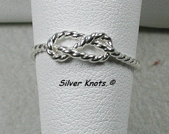 Sterling Silver Friendship Infinity Rope Ring. Very Cute.