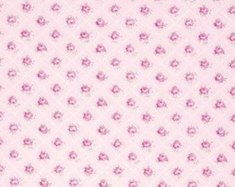 Tanya Whelan, Shabby Chic fabric, Pink fabric, Slipper Roses, Rosebud in Pink, Rose fabric, One Yard
