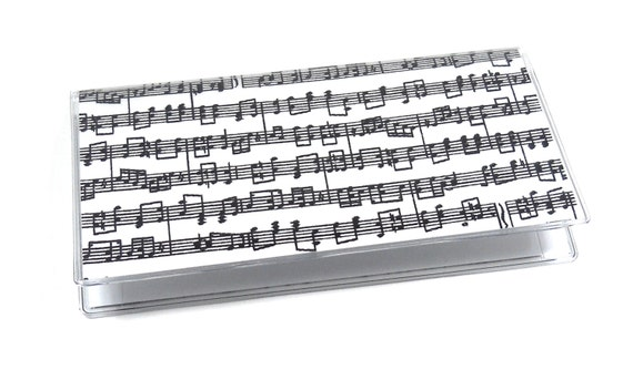 Checkbook Cover Music Notes