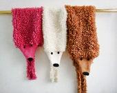PATTERN knit fox scarf, knit stole pattern, animal scarf pattern, 232