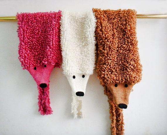 Knitting Patterns Animal Scarves : Fox Scarf Knitting Pattern 232