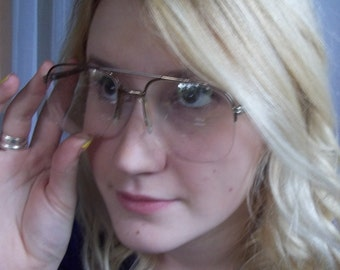 Aviator Style Wire Frameless Eyewear, Vintage Glasses, Eye Frames, Optical, Fun Funky Eye Glass Frames