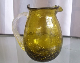 Vintage Hand Blown Small Pitcher