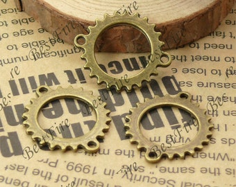20PCS Of 24x28MM Antique Bronze lovely gear Charm Pendant,metal finding,pendant beads,jewelry findings