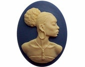 African American Cameo Ethnic Cameo diy Black Sorority Jewelry 40x30 resin Cameo Blue Ivory jewelry findings cameo jewelry supply 545x