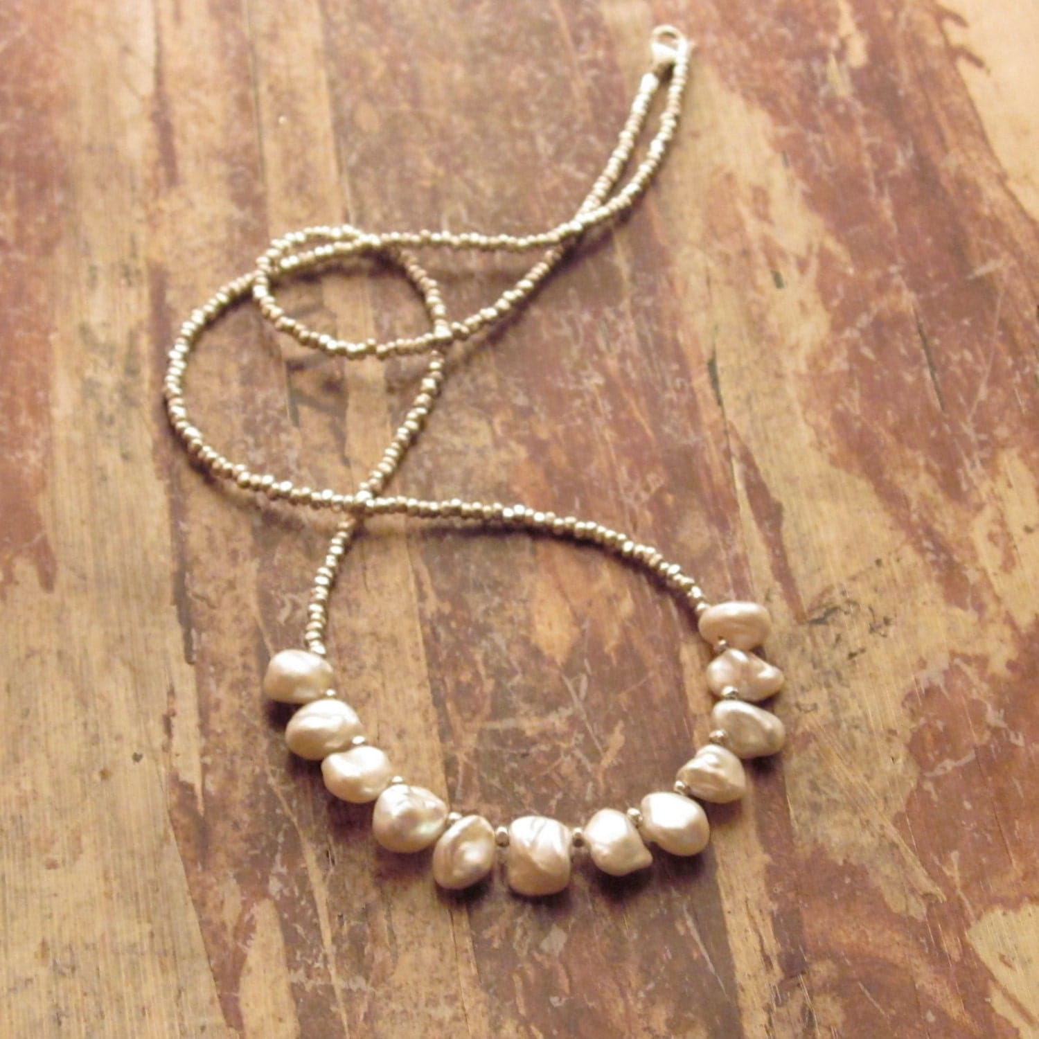 Keshi Pearl Necklace: Keshi Freshwater Pearl Necklace With Karen Hill By