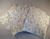 READY TO SHIP - Flannel/Terry Cloth Napkins