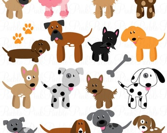Clip Art Clipart Dogs dog clipart etsy clip art puppy vectors commercial and personal use