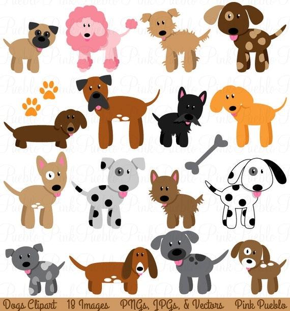 dog clipart clip art puppy clipart clip art vectors rh etsy com clip art poppy wreath clip art puppies and kittens