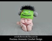 Newborn Halloween Hat, Baby Frankenstein Hat, Newborn Frankenstain Hat, Baby Frankie Hat, Baby Fall Hat, Baby Halloween PHOTO PROP