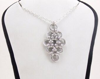 Silver Diamond Vortex Pendant