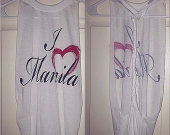 I heart Manila cut-out braided shirt