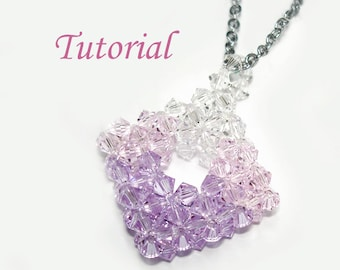 Beading Tutorial - Beaded Pastel Square Pendant