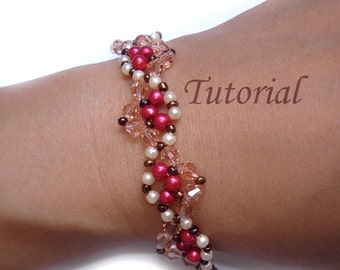 Beading Pattern Tutorial - Beaded Spanish Dance Bracelet Pattern