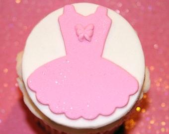Fondant Cupcake Topper Ballet tutu