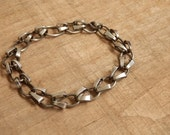 Unisex Steel Chain Bracelet Hand Forged Metal for Men or Women by JeanineDesigns