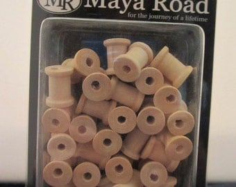 Maya Road Wood Mini Spools