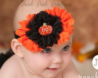 Halloween Headband, Baby Headband,Baby Headbands,baby girl headband,Halloween baby headband,Shabby Chic Flower Headband,Baby Hair Bows.