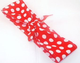 Rosie the Riveter Red with White Polka Dots 50s and 40s Rockabilly Pin Up Headband Halloween Costume
